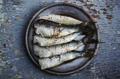 Sardinen auf einem Teller