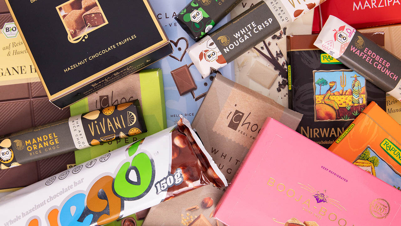 Vegane Schokoladenmarken