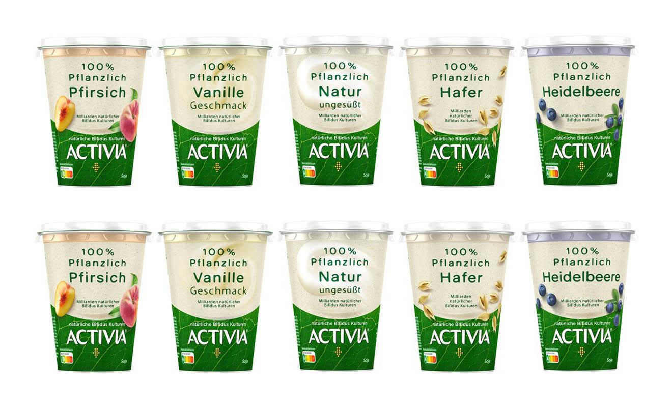 Activia gibt es jetzt in 5 veganen Sorten