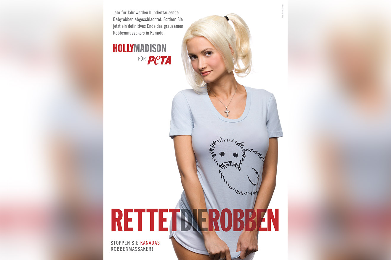 Holly Madison fuer PETA