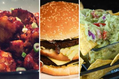Wings, Burger und Nachos
