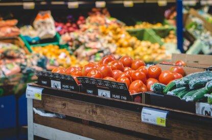 Gemuese im Supermarkt