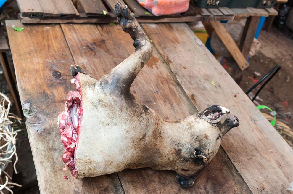 Hundefleisch vom Yulin Hundefleisch Festival
