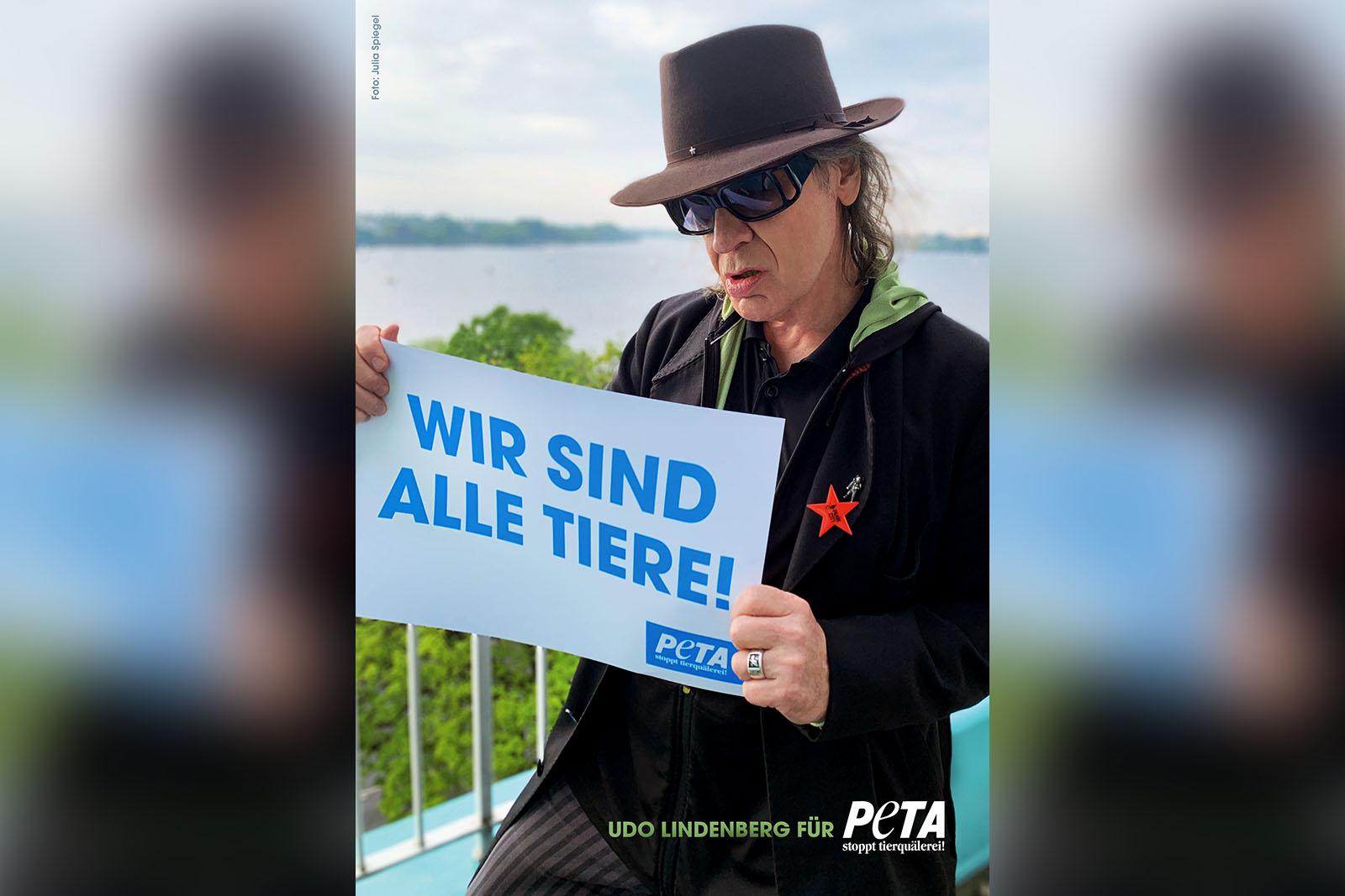 """Udo Lindenberg für PETA: """"Wir sind alle Tiere"""""""