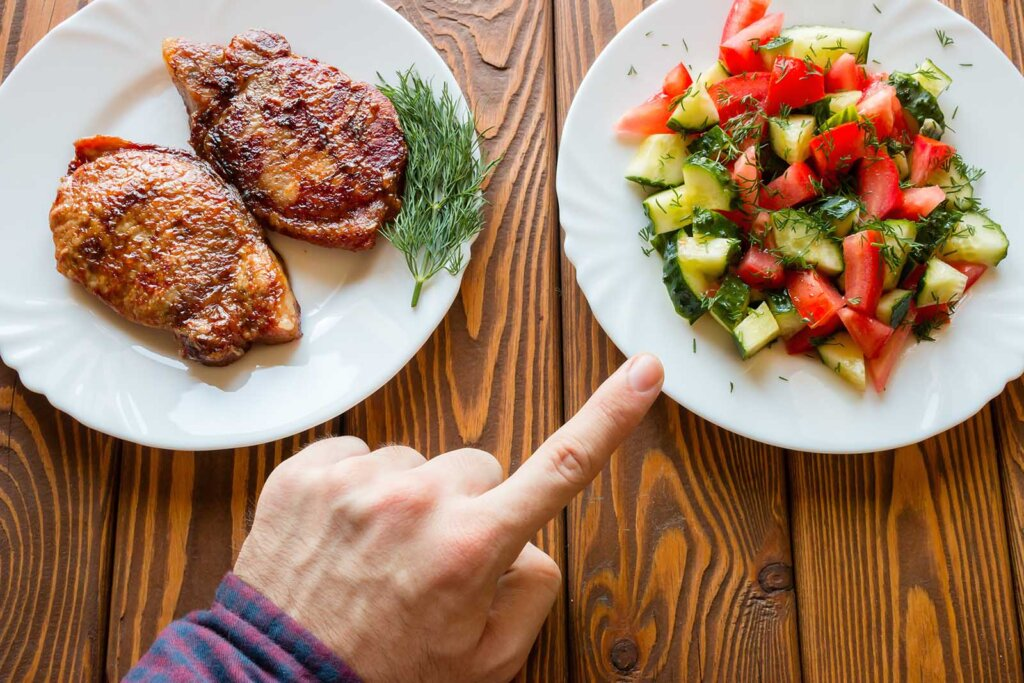 Fleisch und Gemüseteller
