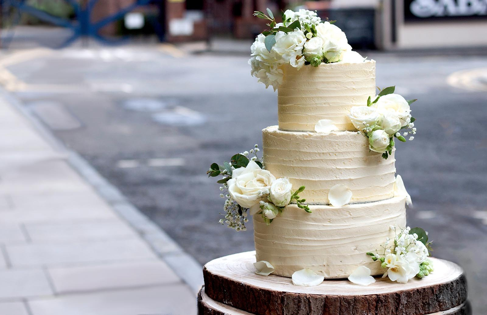 Vegane Hochzeitstorte Zitronen Holunderbluten Torte