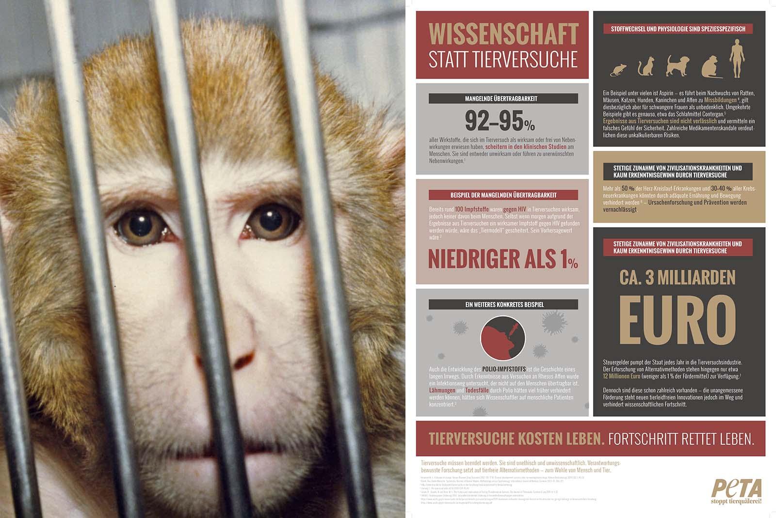 Kritik an der Universität Tübingen: Wissenschaft statt Tierversuche!