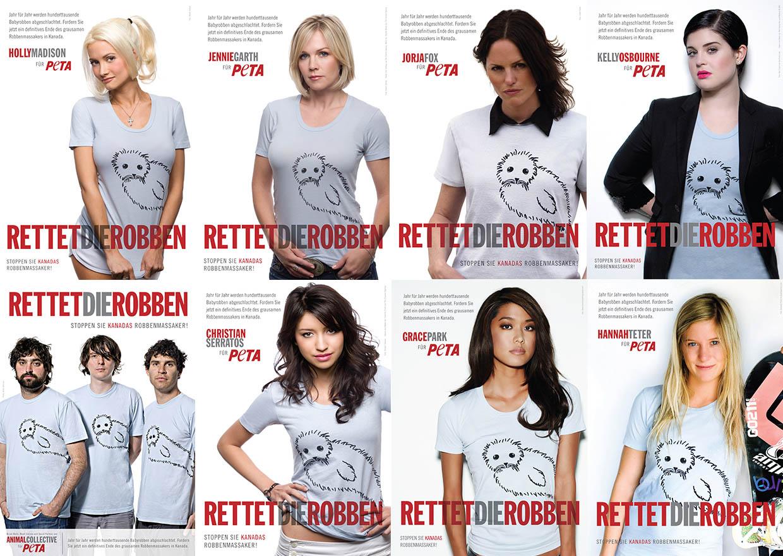 PETAs Promi-Kampagne gegen Kanadas Robbenmassaker