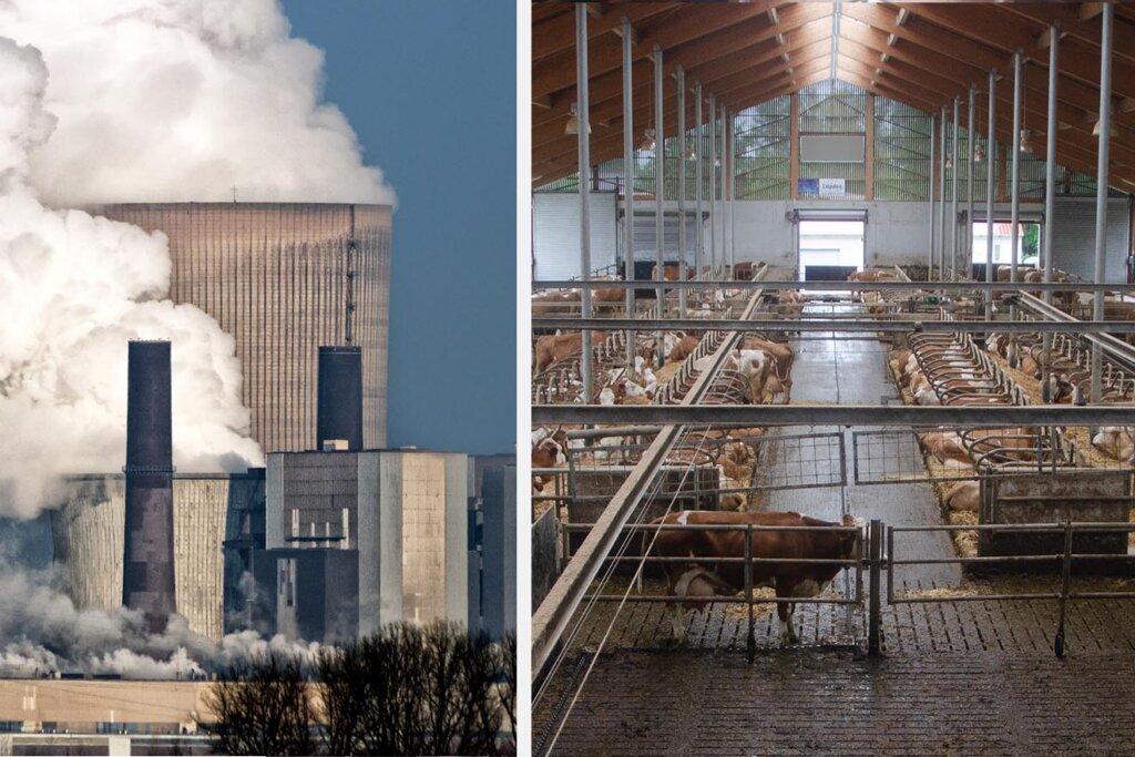 Treibhausgase und Kuhstall