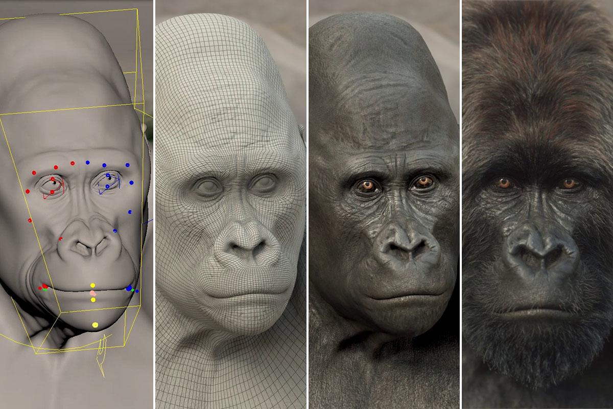 Jetzt Making-of-Video ansehen: So entsteht mit CGI ein Gorilla