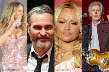 Collage Prominente Mariah Carrie Joaquin Phoenix Pamela Anderson Paul McCartney