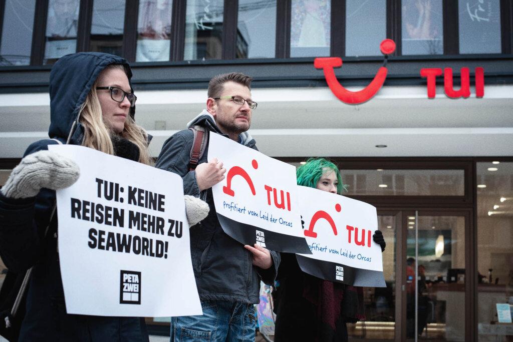 Demonstration gegen TUI