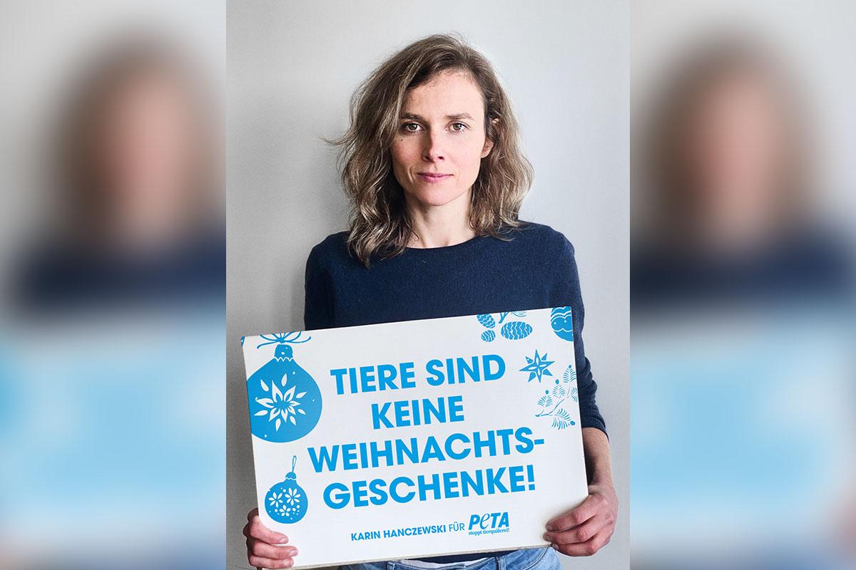 """Schauspielerin Karin Hanczewski: """"Tiere sind keine Weihnachtsgeschenke!"""""""
