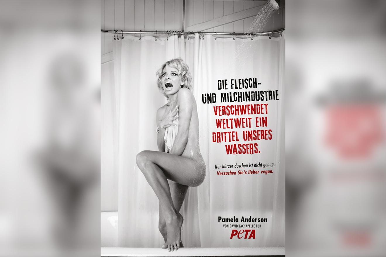 Pamela Anderson und David LaChapelle gegen wasserverschwenderische Tierindustrie