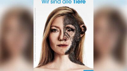 PETA Motiv Johanna Christine Gehlen Wir sind alle Tiere