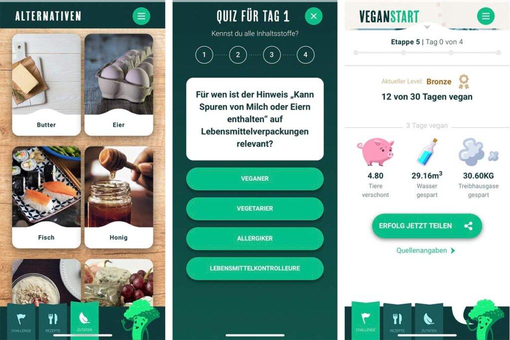 Veganstart App Interface