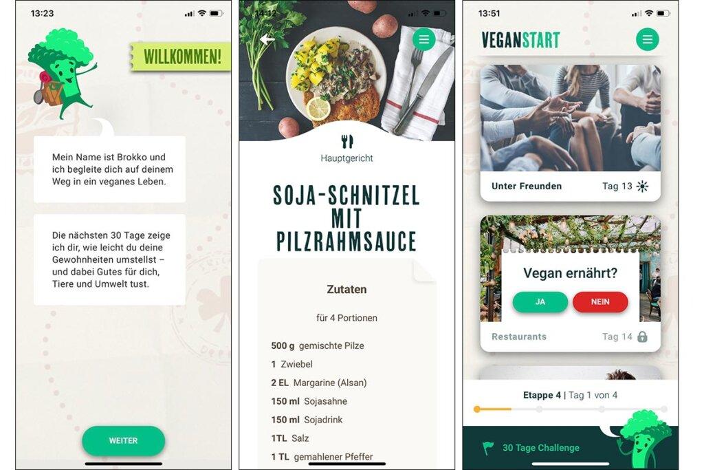 Veganstart.de App Screenshots