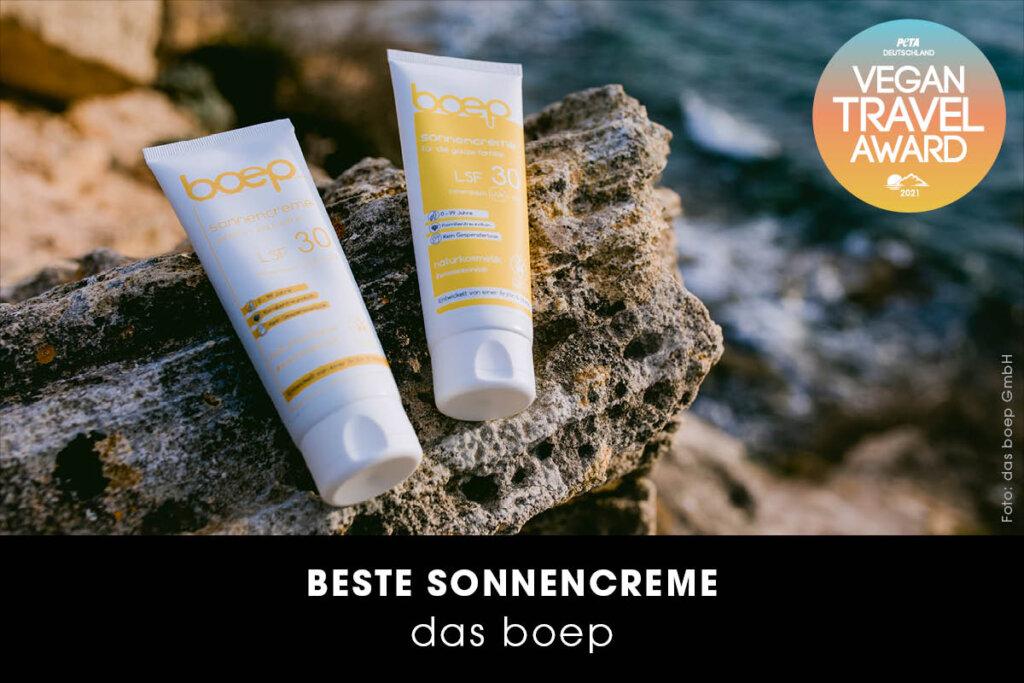 Vegan Travel Award Beste Sonnencreme von Das Boep