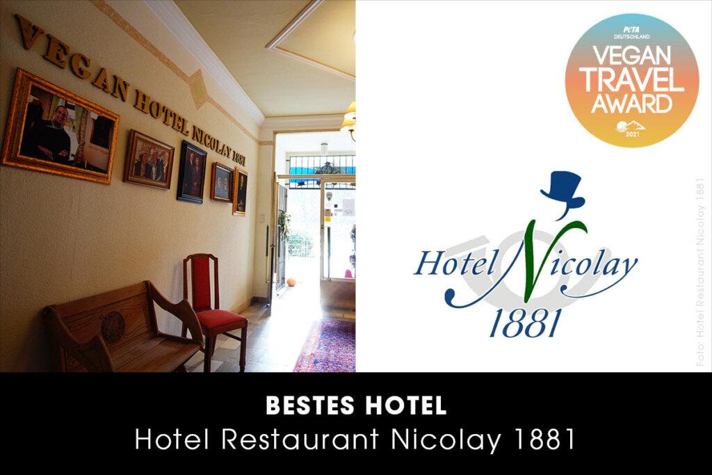 Vegan Travel Award Bestes Hotel - Hotel Nicolay