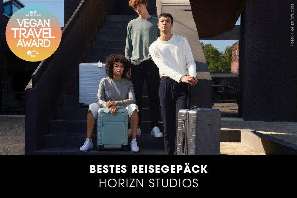 Vegan Travel Award Bestes Reisegepäck Blue Vega Collection von Horizn Studios