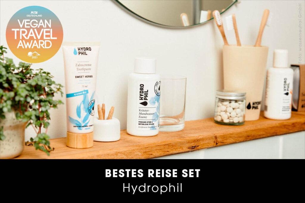 Vegan Travel Award Bestes Reise-Set Hydrophil