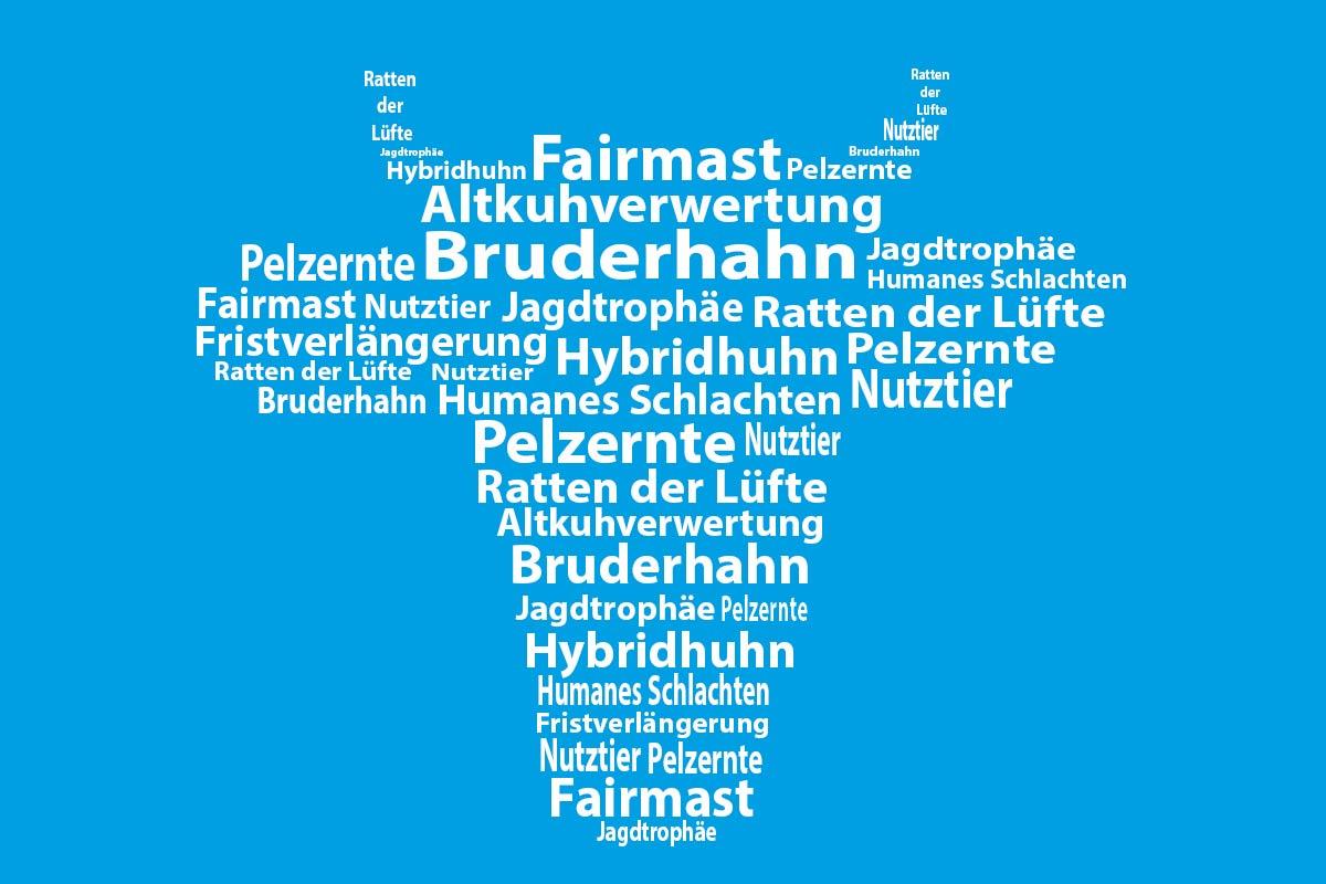 PETAs Unwörter des Jahres: Alle Unwörter im Überblick