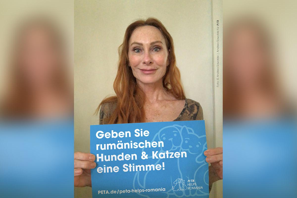 """Andrea Sawatzki spricht Radiospot für """"PETA HELPS ROMANIA"""""""