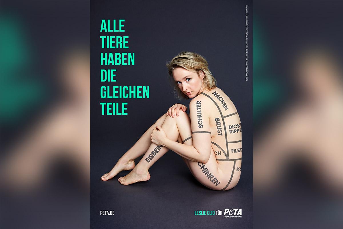 """Sängerin Leslie Clio hüllenlos für veganes Leben: """"Alle Tiere haben die gleichen Teile!"""""""
