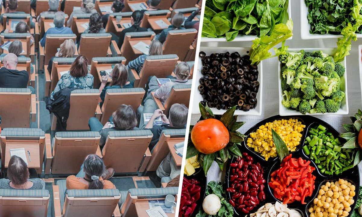 Collage Konferenz Veganes Essen