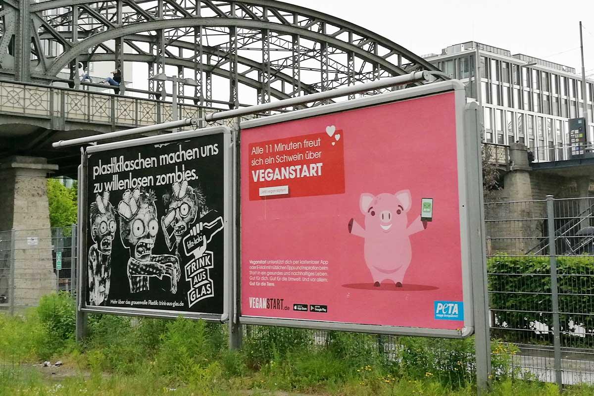 Veganstart Plakatwerbung in München