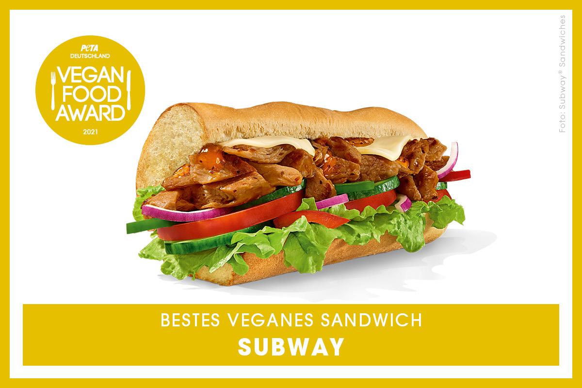 Vegan Food Award Gewinner Subway