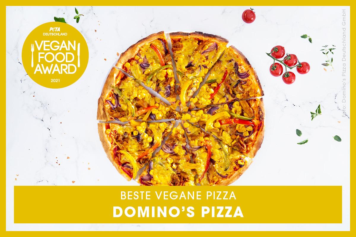 Vegan Food Award Gewinner Domino's Pizza