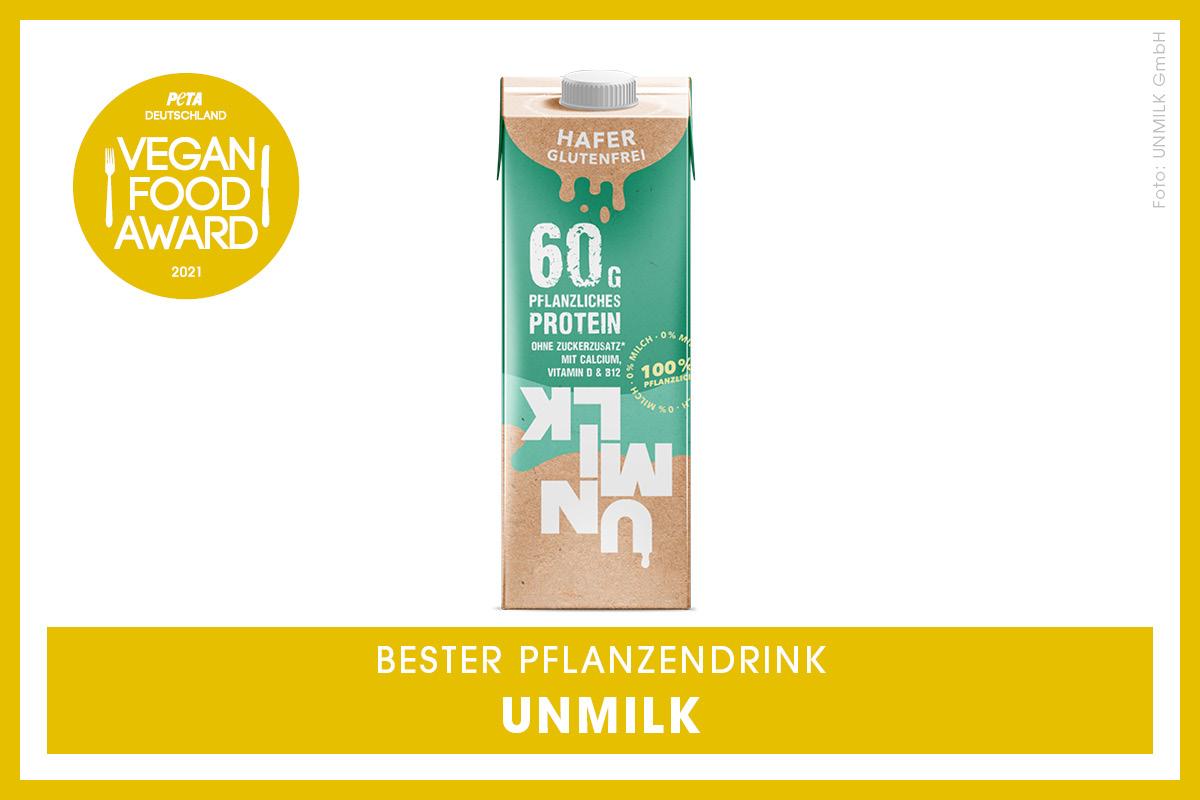 Vegan Food Award Gewinner UNMILK