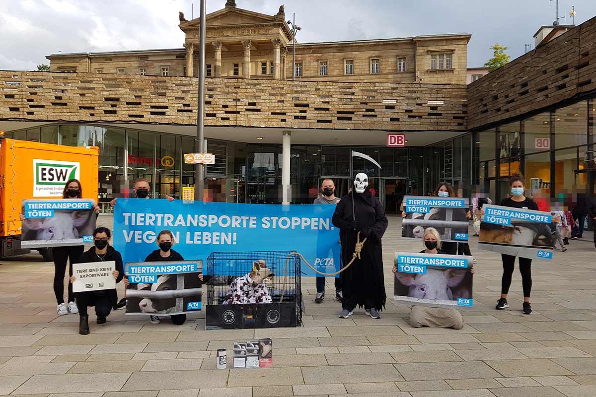 Demonstration gegen Tiertransporte