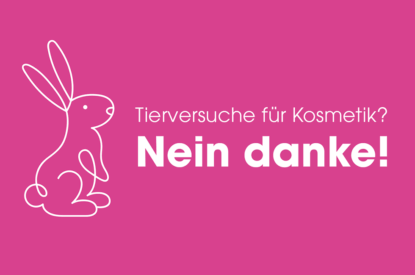 Banner Tierversuche fuer Kosmetik