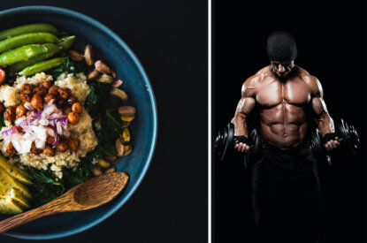 bowl und ein muskulöser mann