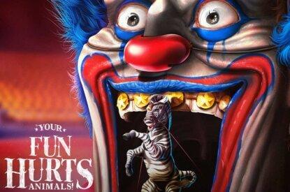 Motivkampagne Clown mit Zebra